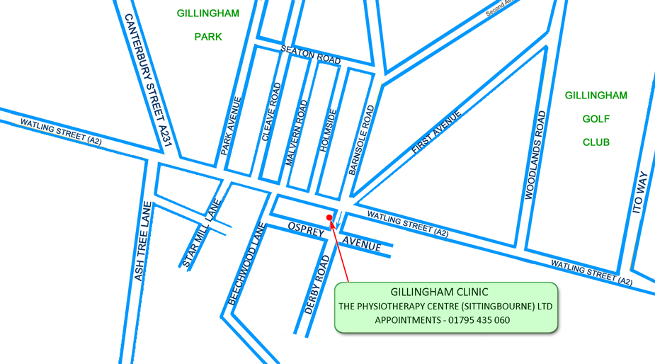 Gillingham Clinic Location Map