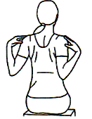 Move arms and shoulders back