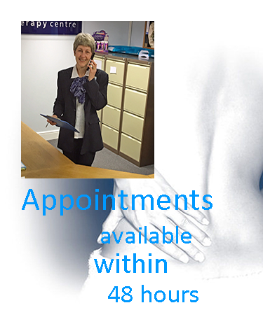 Contact us Key Message - Appointments available within 48 hours