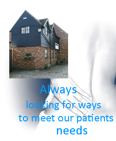 Page Graphic with key image - Always looking for ways to meet our patients' needs