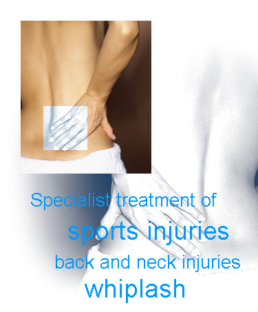 The Physiotherapy Centre - Home Page Graphic Message - Specialist treatment of sports injuries back and neck injuries whiplash